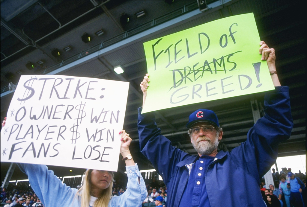 essays on baseball essays on baseball gxart essays on baseball why baseball matters stillfans hold up signs in protest of the baseball strike during a game